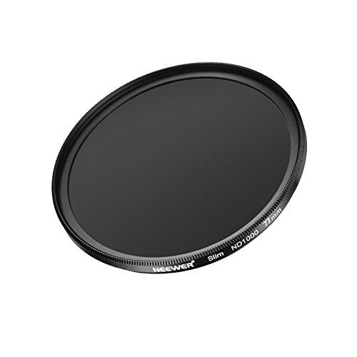 Neewer Mince 77MM Densité Neutre ND 1000 Caméra Objectif Filtre 10 Arrête Verre Optique et Matte Noir Cadre pour Objectif avec 77MM Taille du Filetage, Idéal pour Objectif Grand Angle