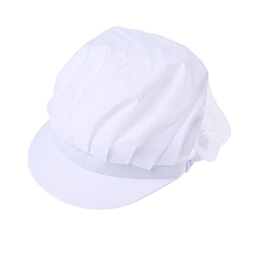 ZOOMY Frauen Arbeiten Cap Dust Proof Catering Mütze für Chef Hotel Kitchen Factory Staff - White