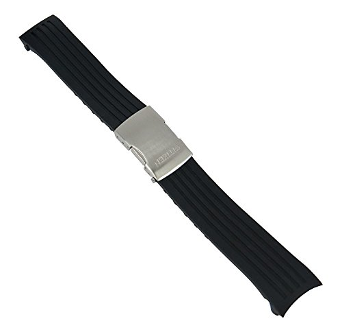 Uhrenarmband Kautschuk Wasserfest 22mm Schwarz für Citizen Skyhawk JY0000, JY0064, JY0010, JY0080, JY0020