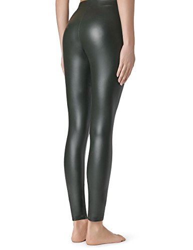 Calzedonia Femme Leggings Cuir Thermiques Vert - 7547