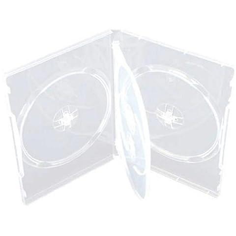 Four Square Media Lot de 10/CD/DVD/BLU RAY DVD 14 mm - 4 emplacements pour 4 disques-Lot de 10