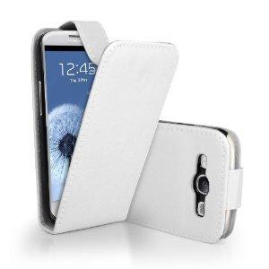 """Slabo Flip Case Schutzhülle Hülle Case TPU für Samsung Galaxy S3 I9300 - """"Kunstleder"""" - WEIß   WHITE von Slabo bei Lampenhans.de"""
