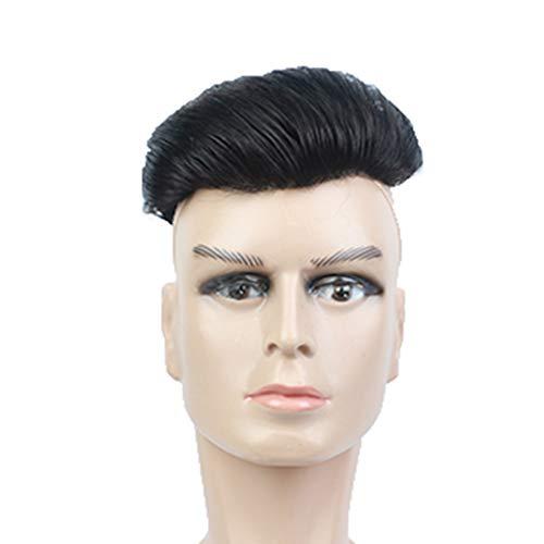 Perruque Homme Cheveux Courts Vraiment Cheveux Haut Réédition Film Mâle Beau Version Coréenne du Perruque Front Bio Cuir Chevelu Bloc De Perruque Hommes (Style : inch Head)