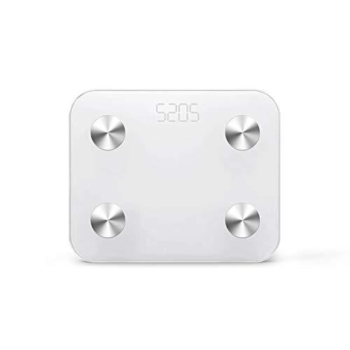 Chengxin Básculas de Cocina Cargador USB Baño Inteligente Escala electrónica de Peso LED HD Pantalla Digital Pérdida de Peso Escala de medición de Grasa Corporal 330 Libras Básculas de Cocina