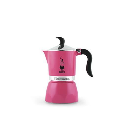 Bialetti Fiammetta Rosa - Cafeteras italianas (Rosa, 3 tazas, Aluminio, Fiammetta, 1 pieza(s), 6 pieza(s))