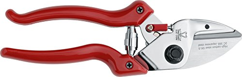 Due Cigni 2C 388/20 Sk-5 Carbon Steel Anvil Pruning and Gardening Shears, Red, 18 mm