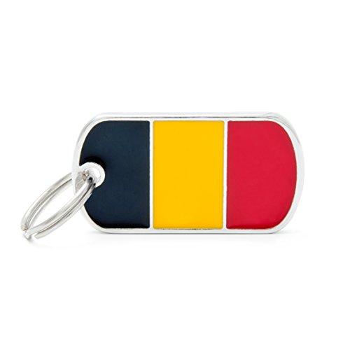 Médaille MyFamily Military Petite Flags Belgique plaque chien gravure gratuite coutume chat