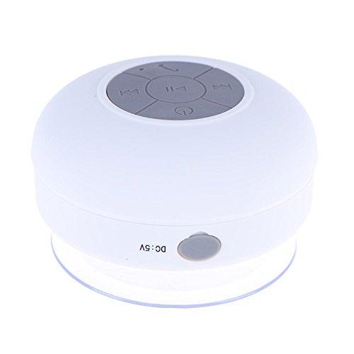 demiawaking Wasserdicht Bluetooth dusche lautsprecher Tragbare Mini Saugnapf Bluetooth Lautsprecher USB wiederaufladbar für Badezimmer Home Office weiß