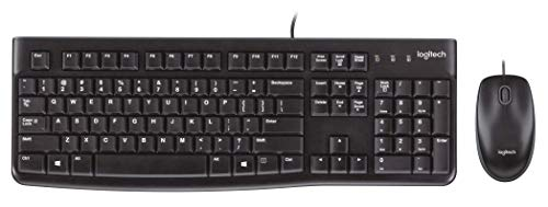 MK120 Wired Desktop Set, Keyboard/Mouse, USB, Black, Sold as 1 Each Logitech Cordless Number Pad