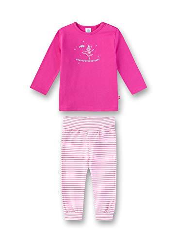 Sanetta Baby-Mädchen Pyjama Zweiteiliger Schlafanzug, Rosa (Raspberry Rose 3972), 86 (Herstellergröße: 086)