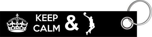 Preisvergleich Produktbild Keep calm and play Basketball Dunkin Schlüsselanhänger Schlüsselband Keyholder Lanyard