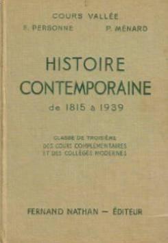 Histoire contemporaine de 1815 à 1939 (Classe de Troisième)