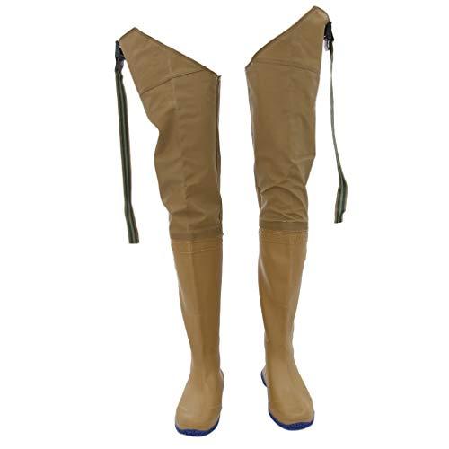 FLAMEER Stivali Pantaloni Da Pesca Trampolieri Calzatura Lunga Industria e Edilizia per Laboratorio Abiti Acqua - Giallo, 42