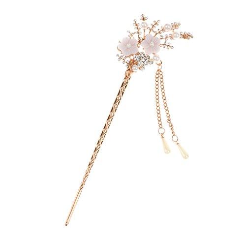 Haarstab Haarnadel Strass Haarschmuck Hairpin Hair Stick Vintage Schupostift Blume Haarnadel Bunten Strass-Haarstock # 10 - Feuerwerk