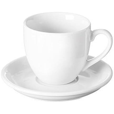 Precio y Kensington simplicidad Espresso taza y platillo, porcelana, blanco,