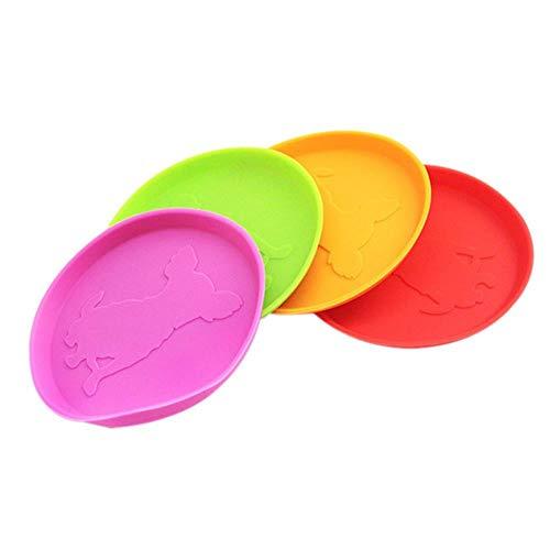 GOUSHENG Frisbees Hunde Spielzeug Hund Frisbee Flying Disc Spielzeug Flyer Hundespielzeug Soft Naturkautschuk Interactive Fetch Spielzeug Outdoor Kausicherheit 10Cm Zufällige Farbe, Zufällige Farbe -