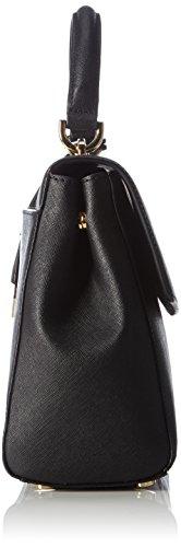 Michael KorsAva Medium Saffiano Leather Satchel - Borsa con Maniglia Donna Nero