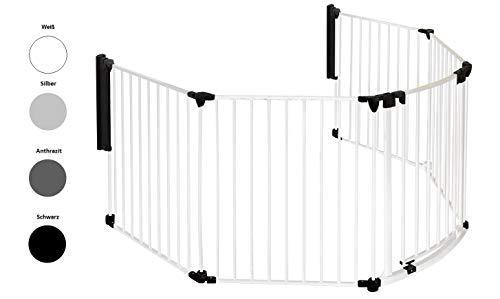 Original IMPAG® Kaminschutzgitter Rondo | 190-310 cm | Automatik-Tür | 90° Feststell-Funktion | Einhandbedienung |