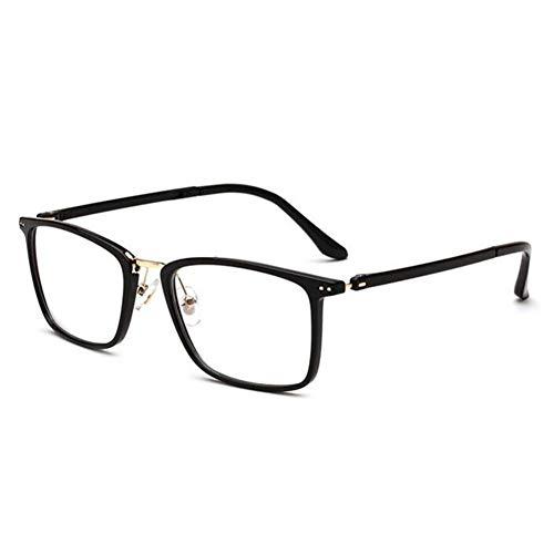 HPTAX-VB Spiegeln Retro Brillenfeder Scharnier Square Frame Klare Brillengläser Für Frauen und Männer Klassische Anti-müdigkeit Computer Brillen