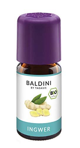 Baldini - Ingweröl BIO, 100{3aca3a0faea22048fb0786e97a7e99ac66549854388815e545735da08cae6f34} naturreines ätherisches BIO Ingwer Öl, Bio Aroma, 5 ml