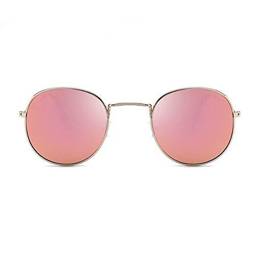 8Eninine Leichte Herren Damen Sonnenbrille Vintage Metallrahmen Resin Lens Uv400 Eyewear Silver & Pink