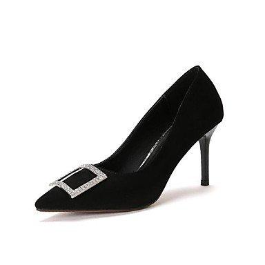 Zormey Les Talons Des Femmes Printemps Été Automne Chaussures Club Comfort Fleece Office &Amp; Partie De Carrière &Amp; Tenue De Soirée Talon Rhinestone Buckle Walking US8.5 / EU39 / UK6.5 / CN40