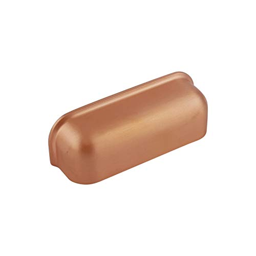 ODESSA Muschelgriff Schalengriff Möbelgriff Schubladengriff Schlafzimmer Küchenschrank Kupfer gebürstet. VB4 Serie: 64 mm BA