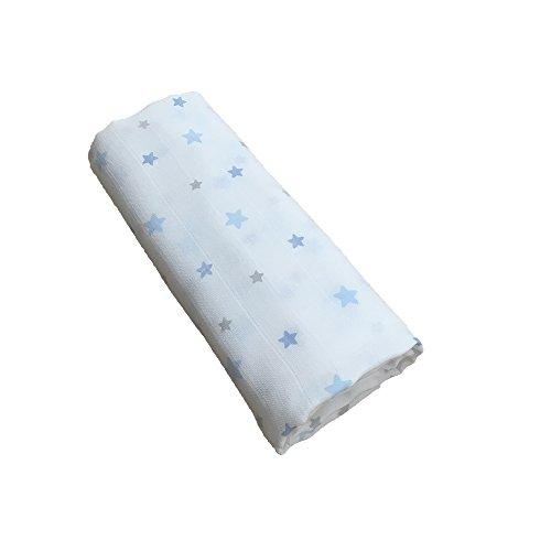 GLOOP. Lange von Baumwolle Sterne blau 100x 100cm