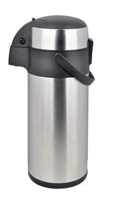 Jasbo Airpot 3L mit Pumpmechanismus Pumpkanne Isolierkanne Thermoskanne aus Edelstahl 3 Liter (3 L) 3 L -