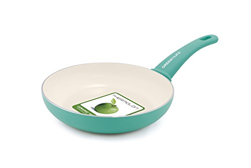 Greenlife Warmies 10 Inch Non-Stick Ceramic Frying Pan with Soft Grip Handle 20,32 cm  Turquoise
