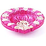 Pricy Craft Diwali Diya Lights Candle Holder Home Decoration Set Of 4_Pink