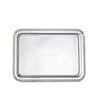 Vassoio piatto rettangolare acciaio inox 18/10 da portata -Tipo: 30x23