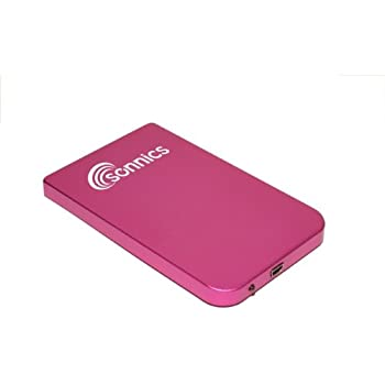 Sonnics 250GB - Pink - Portable External Hard Drive Storage - USB 2.0
