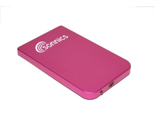 Sonnics 6,3 cm Externe Pocket Hard Drive USB für Verwendung mit Windows PC, Apple Mac, Smart TV, Xbox 360 & PS3 FAT32 rose 80 GB (Pocket Festplatte)
