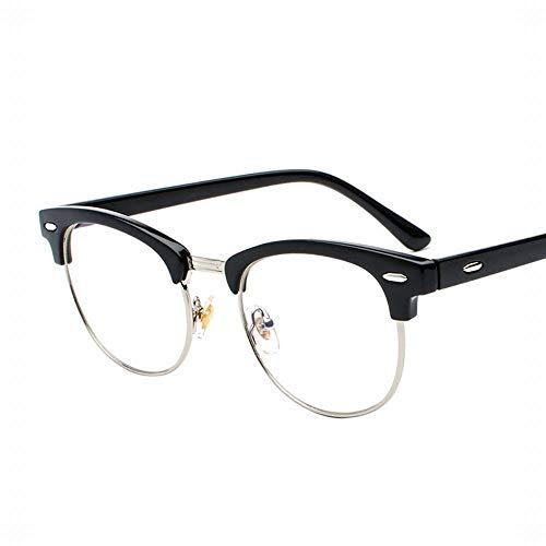Polarisierte Sonnenbrille mit UV-Schutz Herren Material Ultraleichte Flache Spiegelgläser Rahmen Optische Brillen. Superleichtes Rahmen-Fischen, das Golf fährt ( Farbe : Bright black frame-silver )