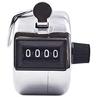 Ogquaton Contadores manuales Contador de números de 4 dígitos Contador de flujo de clicker Manual Clicker