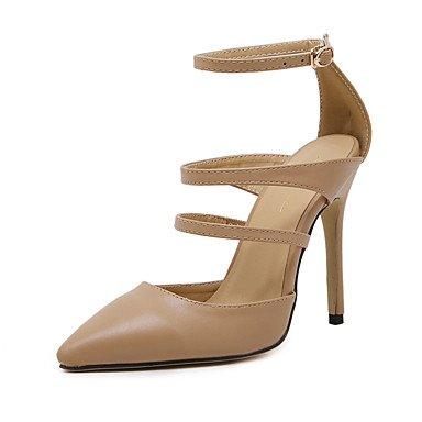 Moda Donna Sandali Sexy donna tacchi Primavera / Estate / Autunno tacchi / Gladiator / pompa di base / Comfort / scarpe e borse di corrispondenza / Casual almond