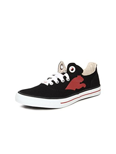 Puma Men's Limnos CAT Ind. Black and High Risk Red Mesh Boat Shoes - 11 UK /India(46EU)  available at amazon for Rs.1195