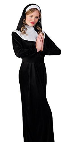 Boland 83816 - Erwachsenenkostüm Nonne, schwarz (Nonne Kostüm Amazon)