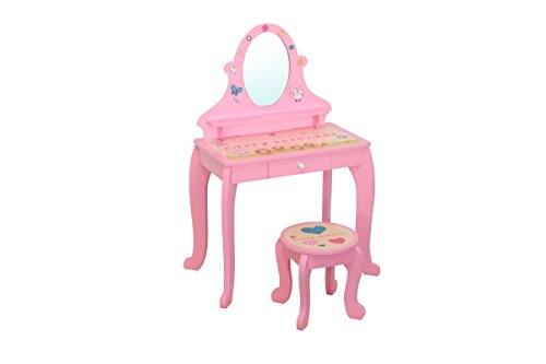 Happy Princess Childrens Wooden Dressing Table and Stool -Patented Graphics