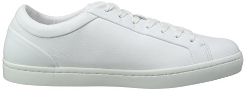 Lacoste Straightset 316 1, Baskets Basses Homme Blanc - Weiß (Wht 001)