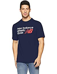 new balance Men's Plain Regular Fit T-Shirt