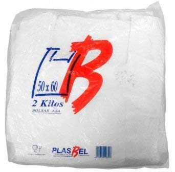 Plasbel Bolsas de Plastico Asa Camiseta (50 x 60 cm. (2 kg (2KGS)