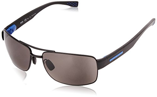 BOSS Hugo Herren 0801/S 6c Sonnenbrille, Schwarz (Matt Black/Grey Pz Oleopho), 63