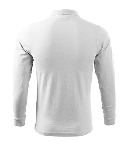 Dress-O-Mat Herren Poloshirt LangarmShirt Longsleeve Polo Weiß