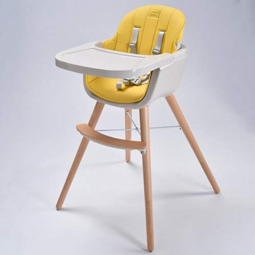 FLB High-Matte Massivholzhocker Kinder-Snack-Matte, Luxus-Multifunktions-Multi-Stuhl-Baby-Lern-Dinette,Yellow