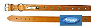 Good Boy Studded Dog Collar 50 Cm Tan from Armitages