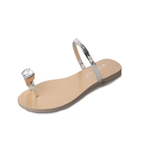 Feng Shui diamante piatti sandali in Inghilterra/coreano-stile semplice pantofole/Joker scarpe estate A