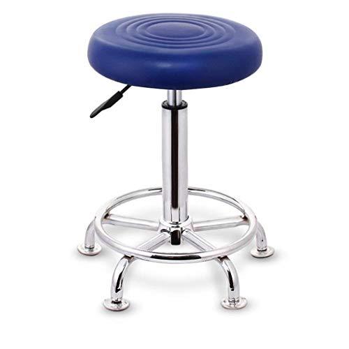 WJDOZ Barhocker Hoher Hocker, höhenverstellbar Gepolsterter Hebesitz Bar Frühstück Home Kitchen Counter Stühle Counter Height Swivel Seat (Color : Blue) -