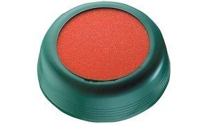 Läufer 69236 Anfeuchter, zum Anfeuchten von Briefumschägen oder Briefmarken, rund, Ø 8,5 cm, oranger Schwamm, flexible Hülle, bunt sortiert